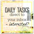 Daily tasks - a task a day direct to your inbox - get started now