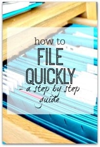 Step by step guide to help you file quickly. If you struggle to file things away easily then this post will really help