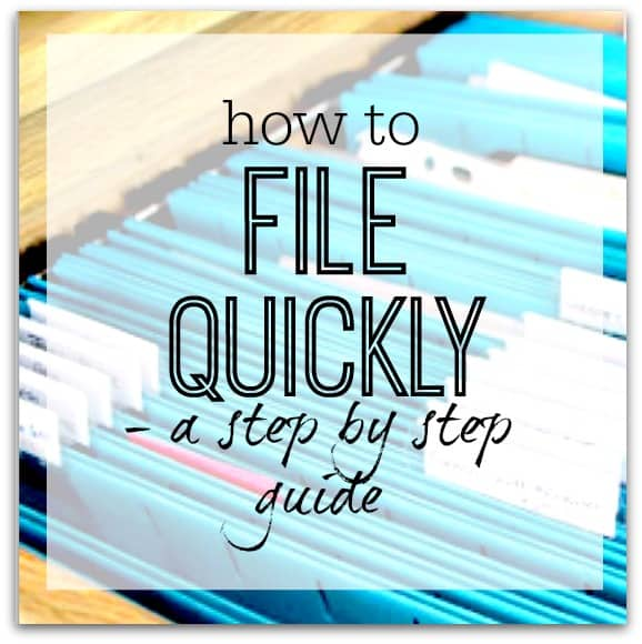 How to file quickly - a step by step guide