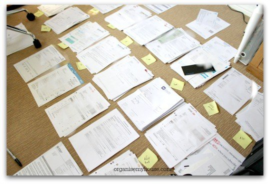 sorting filing into piles