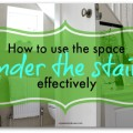 space under the stairs