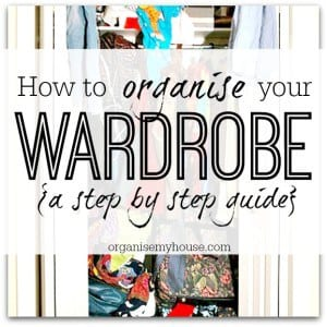 How to organise your wardrobe so you can find what you need
