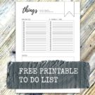 TO DO LIST - Free printable download pdf