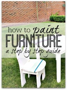 A step by step guide taking your through exactly how to paint furniture to get a new decorative look