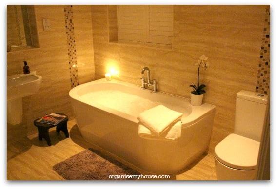 relaxing bathroom evening