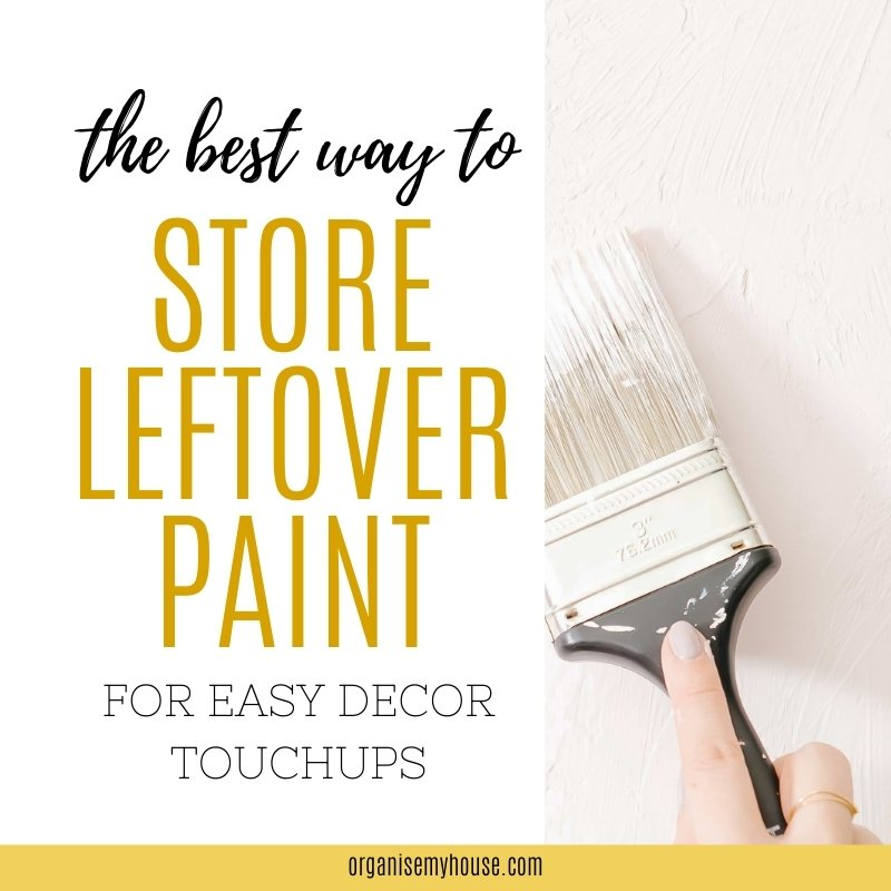 Easy Way To Store Paint For Touch Ups Around The House