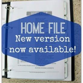 home file - home management binder