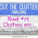 Cut the clutter challenge - week 13 - Clothes