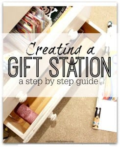 Creating a gift station - a step by step guide to creating a place in your home for wrapping and cards