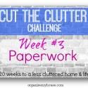 cut the clutter challenge - week 3 - paperwork decluttering