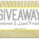 Lettered and Lined Giveaway on Organise My House