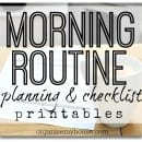 morning routine planning printables