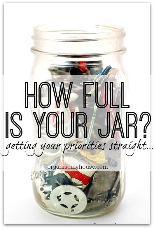 How full is your jar? Are you getting your priorities right or filling your time with what doesn't matter? This is a story that may well help...