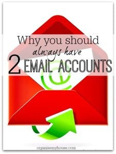 The reason why you should always have 2 email accounts - it really does make all the difference!