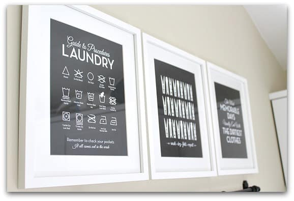 Laundry symbols print via etsy (with ikea frames)