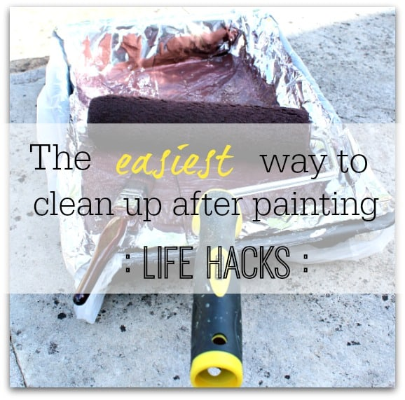 life hack decorating tip - paint tray clean up