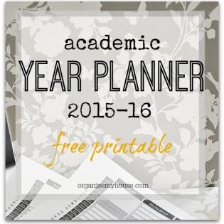 Academic year planner 2015 2016 printable