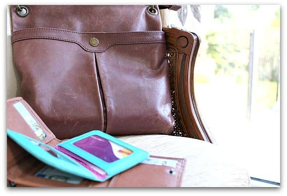 Have 2 purses so that you have less chance of losing everything - quick organising tip