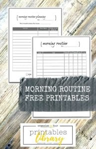 Morning routine planner and checklist printables - get your morning sorted with these easy to use printables and never be rushed again! Planning your morning / Morning routine