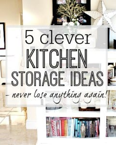 Kitchen storage ideas for any budget - transform how you look at storage for your kitchen with these great ideas for inspiration