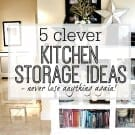 5 clever kitchen storage ideas