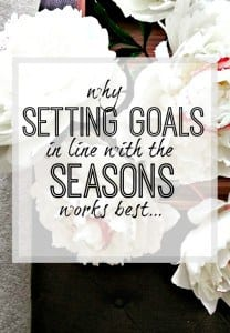 Setting goals - why working with each season will create the best results