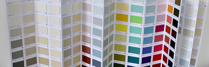 Paint colour chart from the Little Green Paint Company