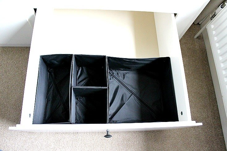 Adding storage dividers to the drawer
