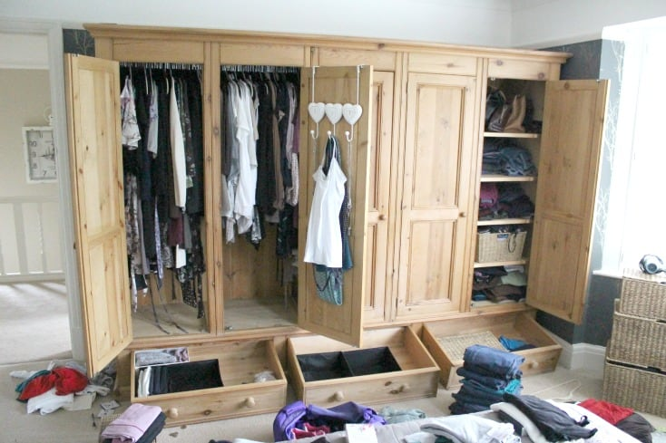 Wardrobe space I have available