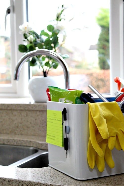 Cleaning caddy quick tip