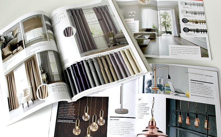 Catalogues can be inspiration for your home decorating
