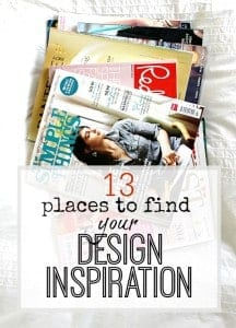 13 places to find design inspiration - some obvious ones and some more obscure. Where will you look!?