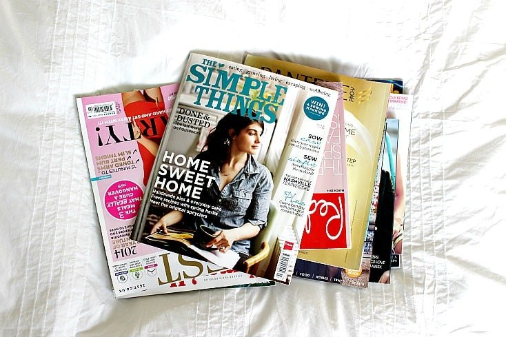 Magazines to be used as design inspiration