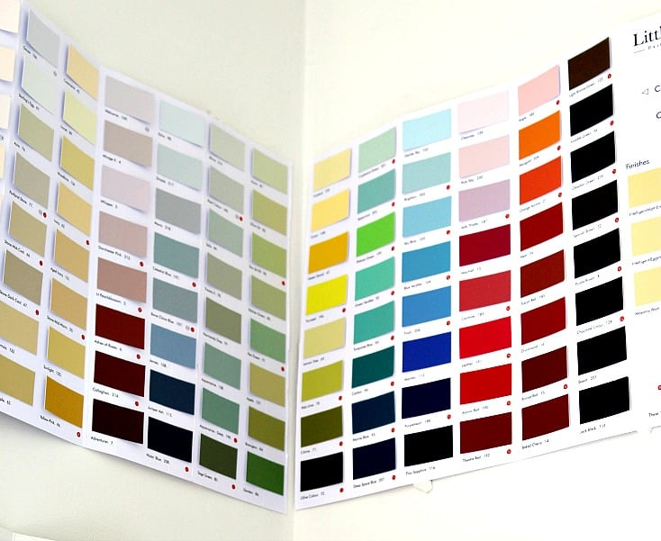 Little Greene Paint Company Paint Chart