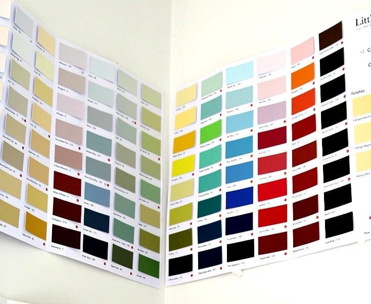 Little Greene Paint Company Paint Chart