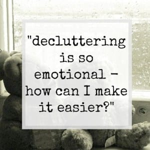 Decluttering and emotions