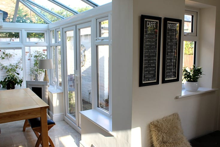 Conservatory before blinds were added
