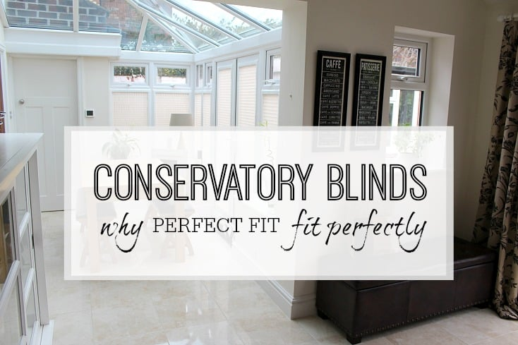 Conservatory blinds and window dressings for awkward windows - perfect fit blinds