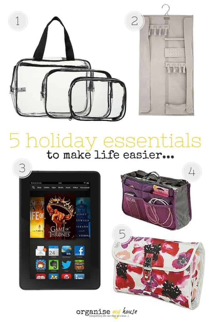Holiday essentials to make life easier on holiday. Products you need in your life!