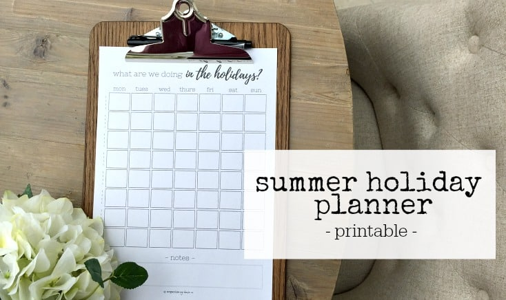 printable to track whats happening in the summer holidays