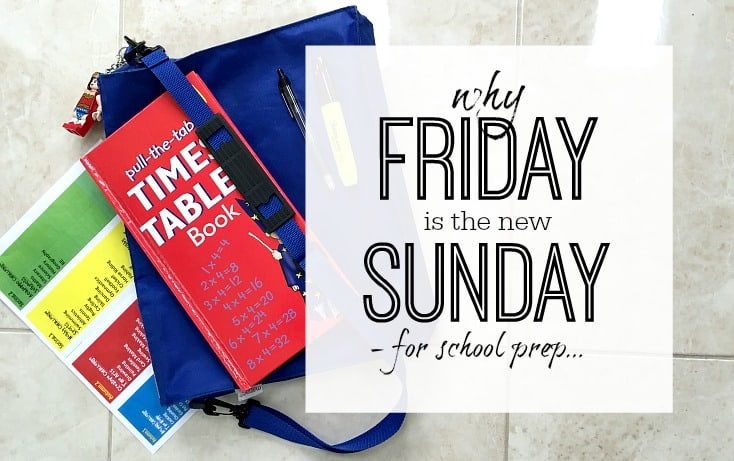 preparing for school on friday works better than sundays - here's why
