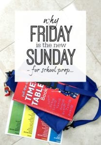 Step by step through the process I use for getting prepared for school on a friday rather and a sunday - It works!