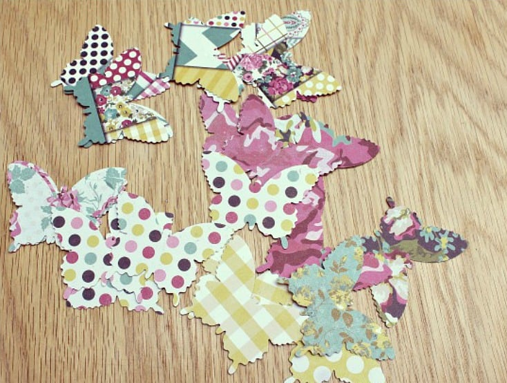 Cutting out butterflys - craft