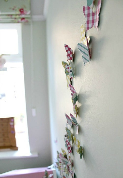 Butterfly wall art idea