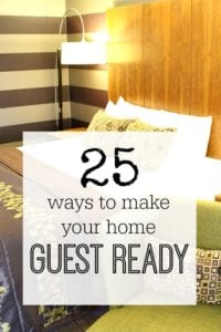 Lots of ingenious ways to make sure your home is always ready for guests - so that you have a less stressful and more fun time entertaining - be guest ready