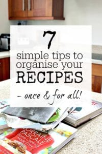 Easy and quick tips and advice to help you organise your recipes. Create a recipe file / recipe book - digital or paper - do what works for you
