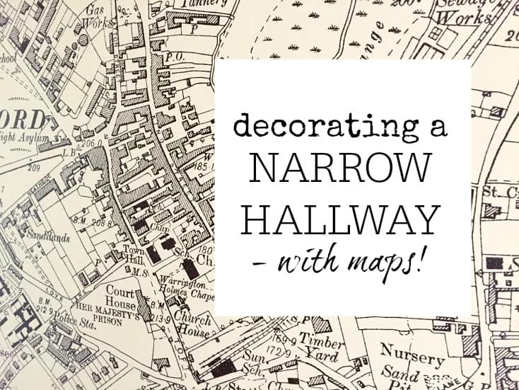 Decorating A Narrow Hallway Using Map Wallpaper