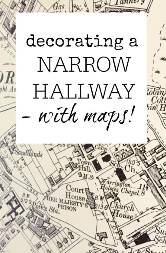 How To Decorate A Narrow Hallway Using Maps Great Idea For Adding Fun