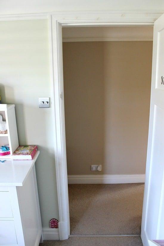 Narrow hallway before