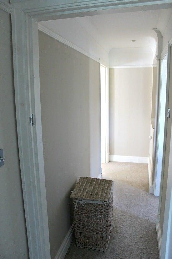 Narrow hallway before redecoration